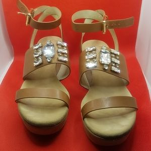 Michael Kors brown crystal sandals